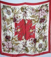 New Charmeuse Silk Scarf - Garden Flowers Butterflies