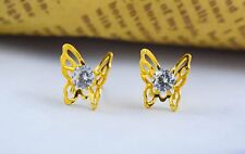 Gold Plated Earrings Studs Indian Jewelry Butterfly Wedding Fashion Designer