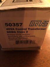 MARS 50357 40VA 277V TO 24V NEMA CLASS 2 FOOT MOUNT STEP DOWN TRANSFORMER