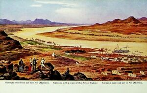 EGYPT KOROSKO WITH A VIEW OF THE NILE NUBIA UNUSED PPC