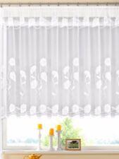 Gardine  Vorhang Höhe 145cm  breite  750cm  Store weiss Blumenfensterstore