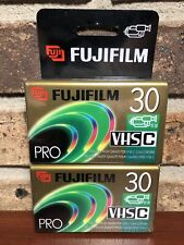 New listing FujiFilm Vhs-C Camcorder Tc-30 Blank Tapes 2 Pack New