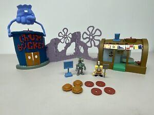 Imaginext Spongebob Krusty Krab Chum Bucket Playset with Figures W9639 Mattel