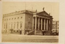 Berlin, Opernhaus  Vintage albumen print.  Germany. Tirage albuminé  6x9
