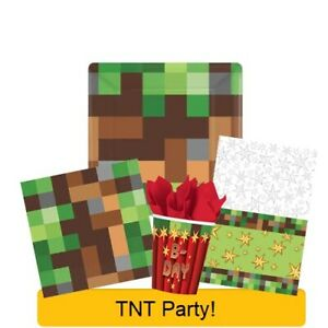 TNT PARTY! Birthday Range NEW Gaming Tableware Balloons Decorations Supplies