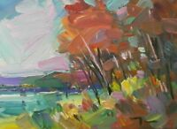 "JOSE TRUJILLO ORIGINAL Oil Painting IMPRESSIONISM 9X12"" Landscape Fauvism SIGNED"