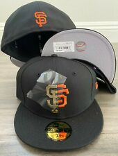 New Era Cap 59FIFTY San Francisco Giants Split Metal Hat Fitted 5950 MLB black