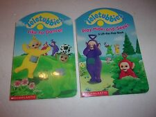 (2) Teletubies Board Books  (Like to Dance / Hide-and-Seek)   VGCond