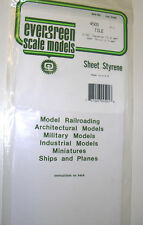"""Evergreen Sheet Styrene 4501 - Tile 1/16"""" Squares (1.6mm) 040"""" Thick (1.0mm)"""