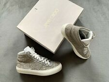 Genuine Authentic Jimmy Choo Spotted Belgravia High Top Trainers Size Uk 8 EU 42