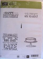 "Sub Stampin' Up! ""Big Day"" Clear Set Of 5. Fun Birthday Stamps Nib Ret"