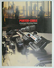 Vintage 1987 Porter Cable Professional Power Tools Catalog Number Pc-377