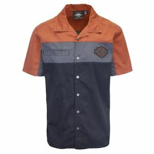 Harley-Davidson Men's Three Tone Copper Block S/S Woven Shirt