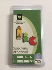 NEW Cricut Classmate Speaking Of School Cartridge Letters Tag Card