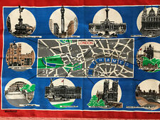 Vintage Blackstaff Irish Linen Tea Towel - Palace of Westminster London England