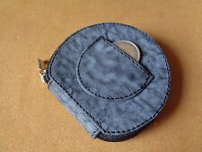 PORTAMONETE TACCO IN VERA PELLE MADE IN ITALY BY LE CUSTODIE MONEY PURSE 81GREY