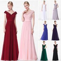 Ever-Pretty V-neck Long Evening Dress Beaded Bridesmaid Dresses Prom Gown 08633