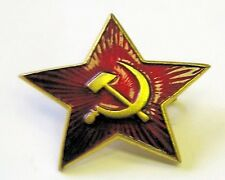 Russian USSR Soviet Red Army Hammer & Sickle Medium Star Hat Pin Badge
