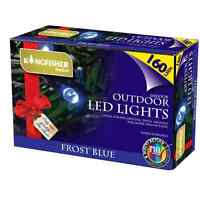 160 MULTI ACTION LED LIGHTS CHRISTMAS TREE BLUE FAIRY STRING OUTDOOR INDOOR