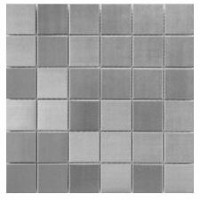 Stainless Steel Mosaic Tile 2x2 for Backsplashes, Showers & More - SQFT