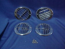 1957 57 1956 56 Lincoln Premiere Capri Set of 4 Chrome A/C Air Conditioner Vents