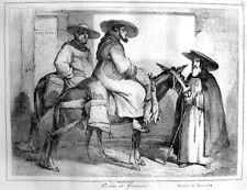 Granada medalla Hermanos recién nacido burdéganos caballo frailes españa ORIG. 1840 monjes