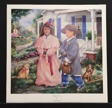 "Paula Vaughan Limited Edition Signed Print ""Puppy Love"" w/COA"
