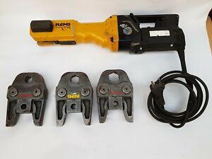 Roller Rems Power-Press E Pressmaschine + 3x Presszange Pressbacke V18 V22 V28
