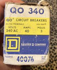 Estate Sale: Square D Qo340 3p 40a Circuit Breaker. New Open Box