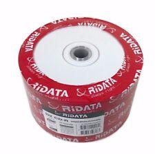 1000 RIDATA 52X Blank CD-R CDR White Inkjet Printable 700MB Media Disc EXPEDITED
