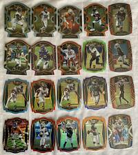 2020 Select Football 20 card die cut lot.Neon Green,Tri color,Purple,Light Blue