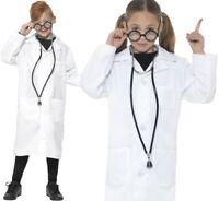 Bambini Costume Carnevale da dottore SCIENZIATO DR LAB Cappotto Smiffys