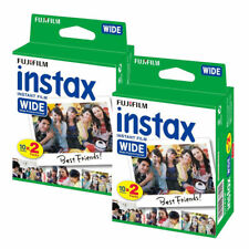 Fuji instax amplia película 2x 20 para cámaras instantánea Fujifilm 210 200 100 (40 fotos)