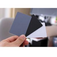 3 in 1 Pocket-Size Digital White Black Grey Balance Cards 18% Gray Card New NYFK