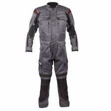 Spada Stelvio Hydrologic Mens One Piece Grey Textile Waterproof Motorcycle Suit