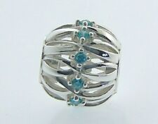 2025-2249 CHAMILIA STERLING SILVER SWAROVSKI TWISTED RIBBONS NEW IN POUCH