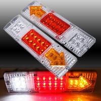 2PC LED TRAILER TAIL LIGHTS TRUCK CARAVAN BOAT LIGHT STOP INDICATOR WATERPROOF