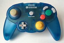 Nintendo GameCube Horipad Hori Pad Clear Blue Controller *Tested* *US Seller*