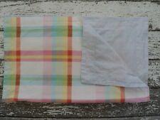 TOMMY HILFIGER Pastel Plaid Sham Standard Blue Stripe Pink Green Yellow