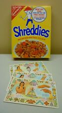 Rare 1965 Nabisco Shreddies Cereal Lot of 3 Premium Indian Sign Cards With Box
