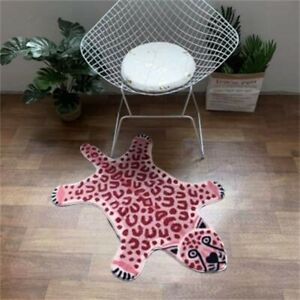 Soft Animal Print Rug White Tiger Pink Leopard Carpet Kids Floor Anti Slip Mat