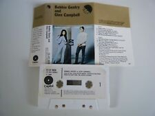 BOBBIE GENTRY AND GLEN CAMPBELL CASSETTE TAPE 1968 PAPER LABEL CAPITOL EMI UK