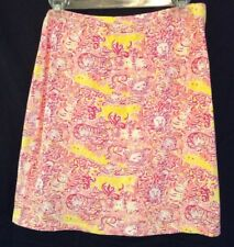 "Barbara Gerwit Vintage Cotton Stretch ""Lion"" Print Skirt Size M"