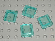 4 x vitre LEGO TrLtBlue Glass 4862 / Set 6392 4030 4535 6597 10159 6542 6541 ...