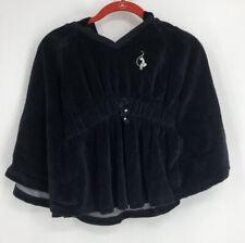 EUC Baby Phat girlz velvet batwing dress.  Black. Hooded. Sz M