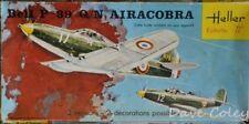 Rara Vintage Heller Kit Modelo Bell P-39 Q/n Airacobra Us Airforce 1:72 Nd Escala