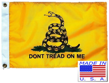 12x18 Gadsden Double Sided Nylon Boat Car Motorcycle Flag Made in Usa