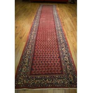 4x17 Authentic Hand Knotted Oriental Mir Runner LA-52123
