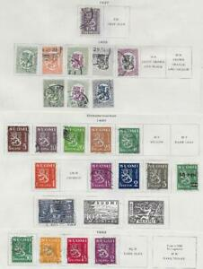 24 Finland Stamps from Quality Old Antique Album 1927-1932