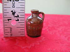 "Antique Miniature ""Old Jordan"" Stoneware Jug 1-3/8"" High"